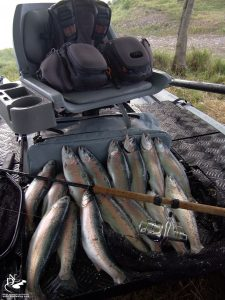 Oncorhynchus mykiss, Creek Company Flats Raider 9 pontoon, katabot | Bahadır Çapar