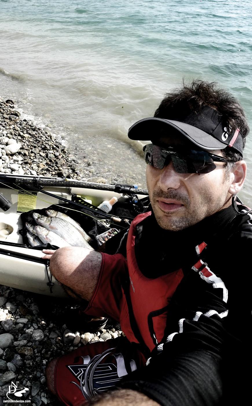 Bahadır Çapar ve kayakla uçurma balıkçılığı , fly fishing on a kayak| Bahadır Çapar 2013