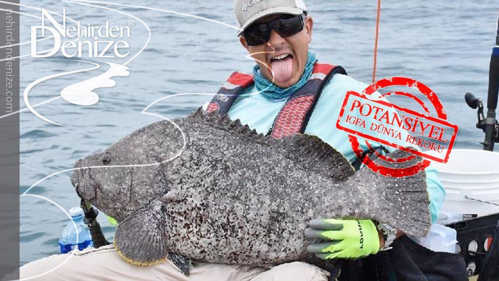 Kayaklı Bir Balıkçıdan Dünya Rekoru Balık!