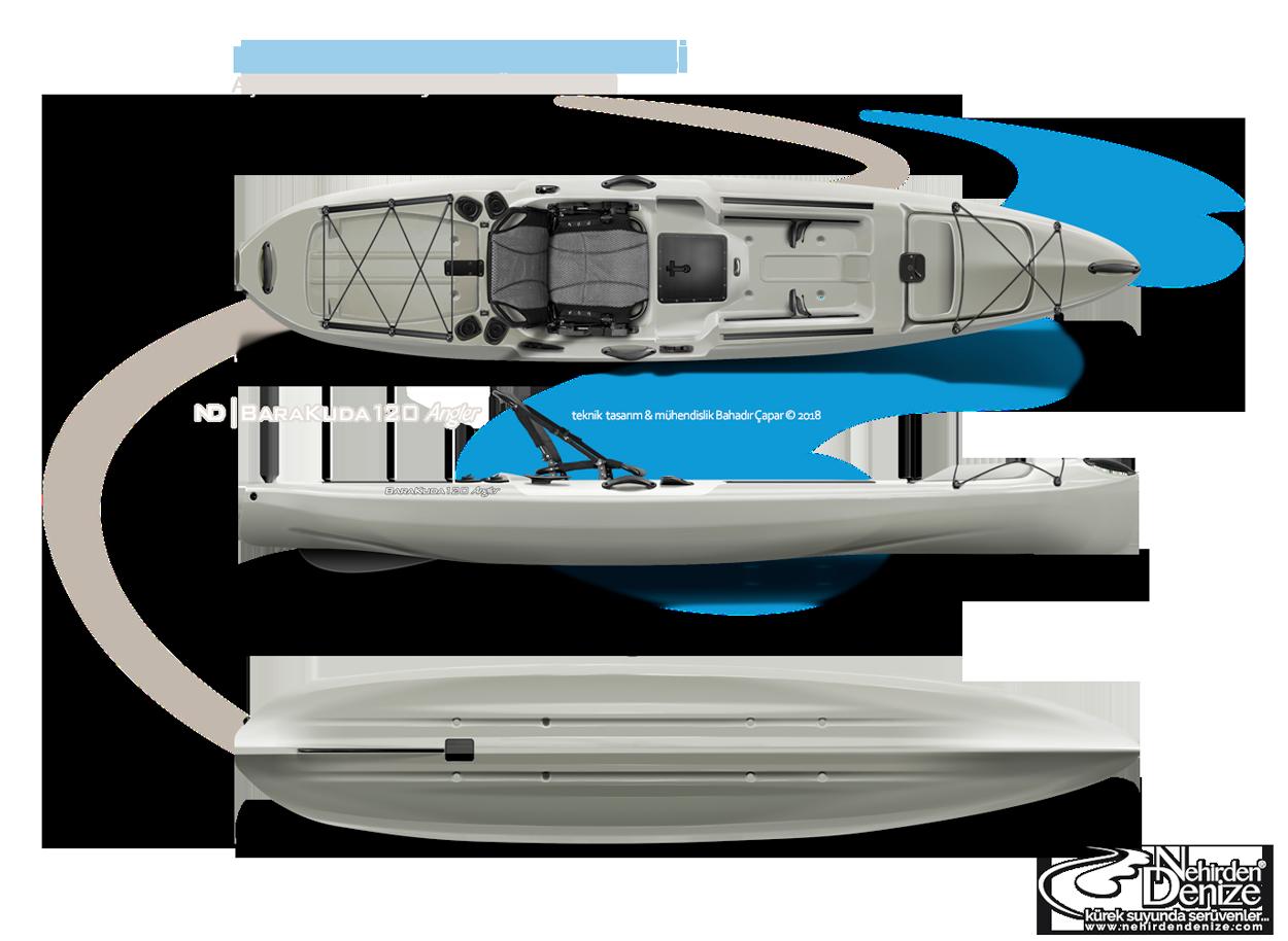 ND | KANUJAK kayaks - BaraKuda 120 Angler